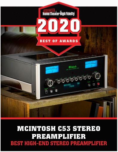 McIntosh C53 - Legjobb High End sztereó előerősítő díj 2020